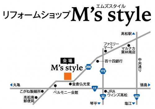 リフォームショップM's style地図